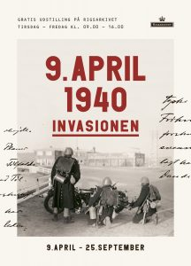 Udstillingsplakat - 9. april 1940 - Invasionen. Foto: Th. Christensen
